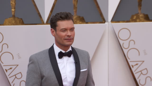 ryan seacrest at 88th annual academy awards arrivals at 88th annual academy awards arrivals at hollywood highland center on february 28 2016 in... - ryan seacrest stock-videos und b-roll-filmmaterial