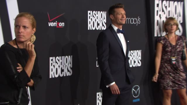 ryan seacrest at fashion rocks 2014 at barclays center on september 09 2014 in new york city - ryan seacrest stock-videos und b-roll-filmmaterial