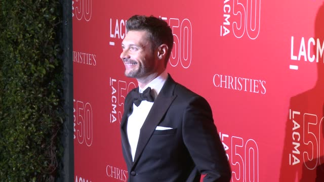ryan seacrest at lacma's 50th anniversary gala at lacma on april 18 2015 in los angeles california - ryan seacrest stock-videos und b-roll-filmmaterial