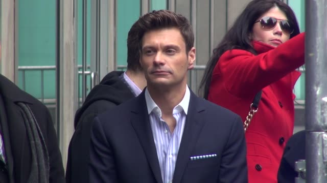 ryan seacrest at news corporation for 'idol across america' ryan seacrest at news corporation for 'idol across on march 01 2013 in new york new york - ryan seacrest stock-videos und b-roll-filmmaterial