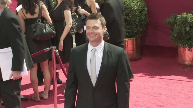 ryan seacrest at the 60th primetime emmy awards at los angeles ca - ryan seacrest stock-videos und b-roll-filmmaterial