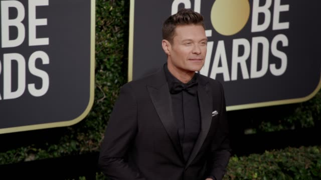 ryan seacrest at the 75th annual golden globe awards at the beverly hilton hotel on january 07 2018 in beverly hills california - ryan seacrest stock-videos und b-roll-filmmaterial
