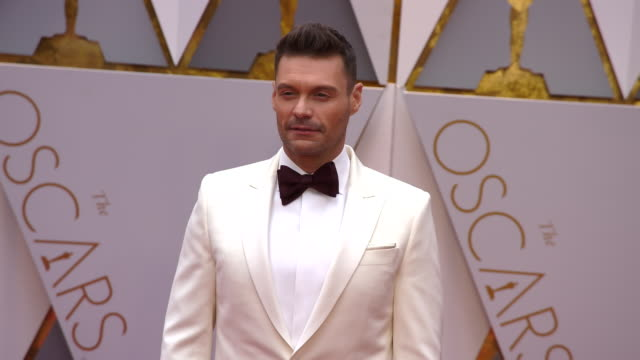 ryan seacrest at the 89th annual academy awards arrivals at hollywood highland center on february 26 2017 in hollywood california 4k - ryan seacrest stock-videos und b-roll-filmmaterial