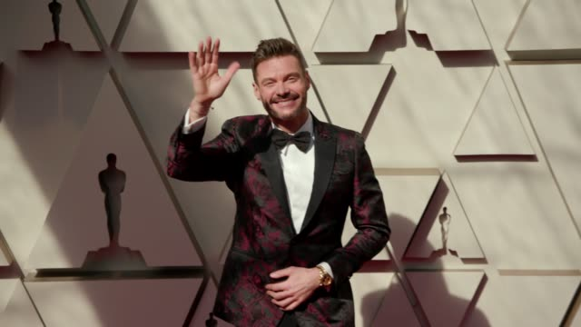 ryan seacrest at the 91st academy awards arrivals at dolby theatre on february 24 2019 in hollywood california - ryan seacrest stock-videos und b-roll-filmmaterial