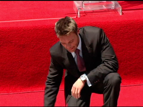 ryan seacrest at the dedication of ryan seacrest's star on the hollywood walk of fame at hollywood and highland in hollywood california on april 20... - ryan seacrest stock-videos und b-roll-filmmaterial