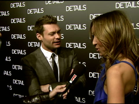ryan seacrest at the details magazine celebrates 'mavericks 2008' at null in beverly hills california on march 21 2008 - ryan seacrest stock-videos und b-roll-filmmaterial