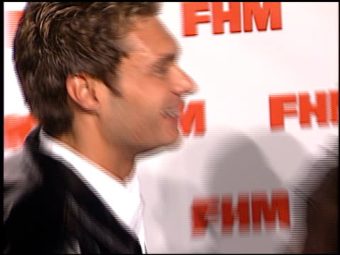 Ryan Seacrest at the FHM Magazine 100 Sexiest Women at La Boheme in West Hollywood California on May 17 2001
