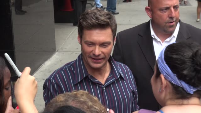 ryan seacrest at the 'good morning america' studio in new york ny on 7/15/13 - ryan seacrest stock-videos und b-roll-filmmaterial