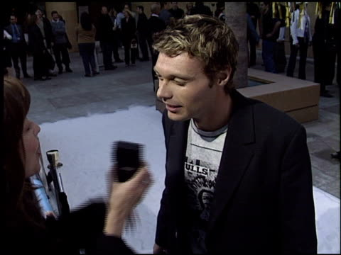 ryan seacrest at the premiere of 'the real cancun' at the egyptian theatre in hollywood california on april 24 2003 - ryan seacrest stock-videos und b-roll-filmmaterial