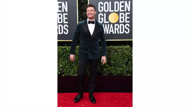 ryan seacrest attends the 77th annual golden globe awards at the beverly hilton hotel on january 05 2020 in beverly hills california - the beverly hilton hotel stock-videos und b-roll-filmmaterial