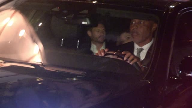 ryan seacrest hilary cruz departing chateau marmont in los angeles celebrity sightings in los angeles ca on - ryan seacrest stock-videos und b-roll-filmmaterial
