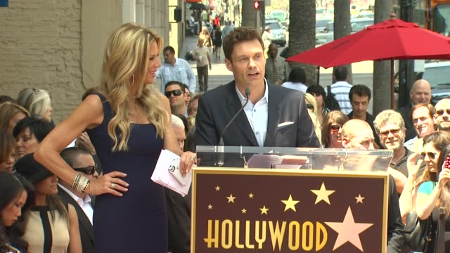 ryan seacrest on ellen k at ellen k honored with star on the hollywood walk of fame speech ryan seacrest on ellen k at ellen k honore at hollywood... - ryan seacrest stock-videos und b-roll-filmmaterial