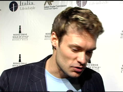 ryan seacrest on mario testino and herb ritts' photography la fashion week american idol's continuing success on it interesting upcoming projects and... - american idol stock videos and b-roll footage