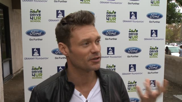 interview ryan seacrest on the foundation at the ryan seacrest ford the recording academy and grammy foundation celebrate national semifinalist for... - ryan seacrest stock-videos und b-roll-filmmaterial