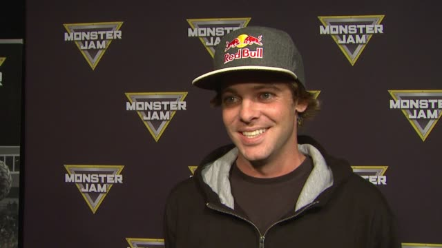 INTERVIEW Ryan Sheckler on bringing his family and which truck he's rooting for at Monster Jam Celebrity Night at Angel Stadium of Anaheim on January...