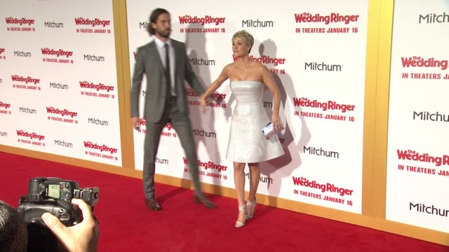 """ryan sweeting and kaley cuoco at """"the wedding ringer"""" los angeles premiere at tcl chinese theatre on january 06, 2015 in hollywood, california. - tcl chinese theatre stock videos & royalty-free footage"""