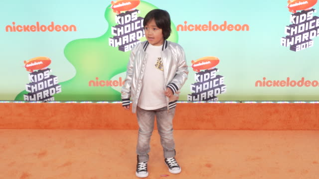 ryan toysreview at the nickelodeon's 2019 kids' choice awards at galen center on march 23, 2019 in los angeles, california. - nickelodeon stock videos & royalty-free footage