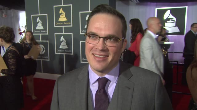 interview ryan truesdell on being nominated and on being a musician at the 55th annual grammy awards arrivals interviews in los angeles ca on 2/10/13 - grammy awards stock videos and b-roll footage