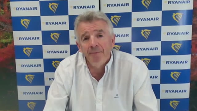 ryanair ceo michael o'leary talking about staff cuts and potential future cuts due to the coronavirus - downsizing stock videos & royalty-free footage