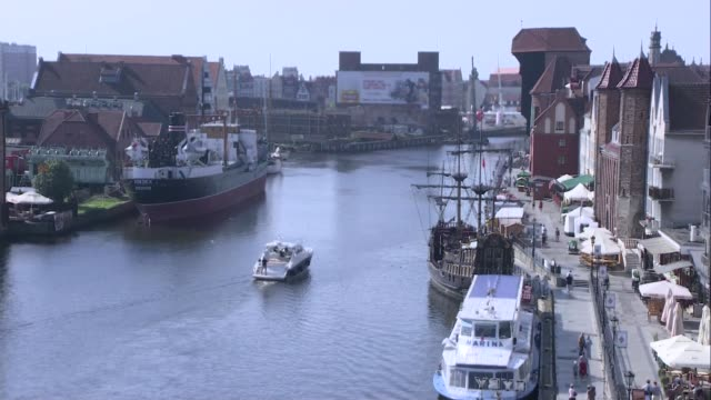 rybackie pobrzeze in gdansk - passenger craft stock videos & royalty-free footage