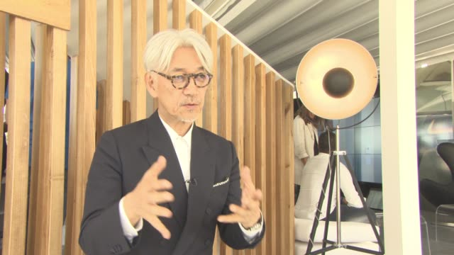 Ryuichi Sakamoto on his decision to allow the subject of his cancer and the treatment to feature in the film at Palazzo del Cinema on September 03...