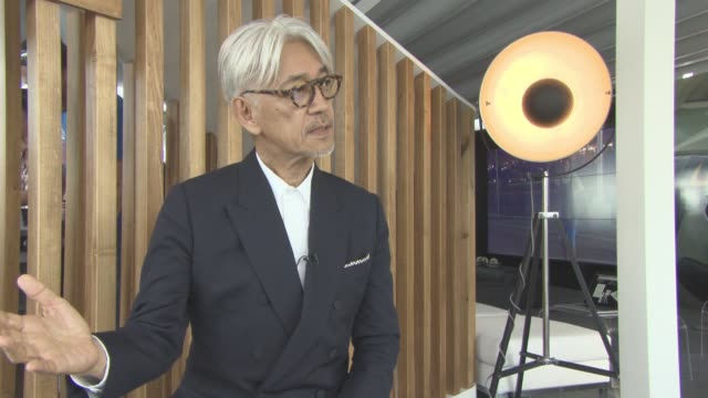 ryuichi sakamoto on his reason to agree to a film about himself at palazzo del cinema on september 03, 2017 in venice, italy. - 74th venice film festival stock videos & royalty-free footage