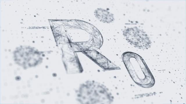 display rzero - vettore della malattia video stock e b–roll