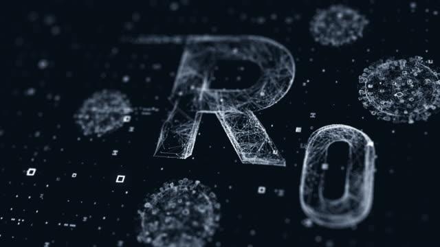 rzero display - vettore della malattia video stock e b–roll