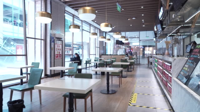s 7fresh supermarkets in beijing, china, on tuesday, april 14, 2020. 7fresh provides delivery services within five km, so shoppers can get their... - 席点の映像素材/bロール