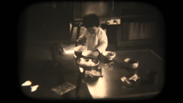 60's 8mm footage - baby boy kids eating - showa period stock videos & royalty-free footage