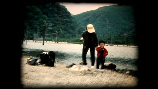 70's 8mm footage - family trip in kamikouchi - emotion stock videos & royalty-free footage