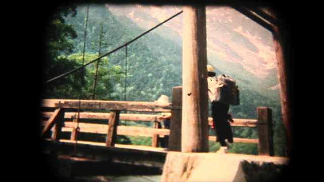 60's 8mm footage - family trip in kmikouchi - nostalgia stock videos & royalty-free footage