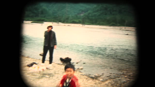 60's 8mm footage - family trip in kmikouchi - retro style stock videos & royalty-free footage
