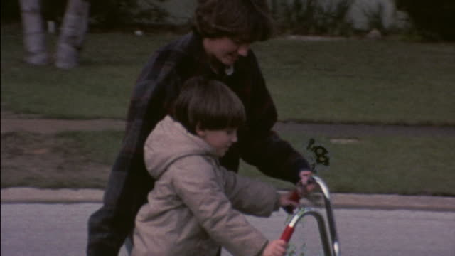 70's 8mm footage learning to ride a bike