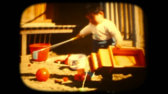 60's 8mm footage - Play with golf club