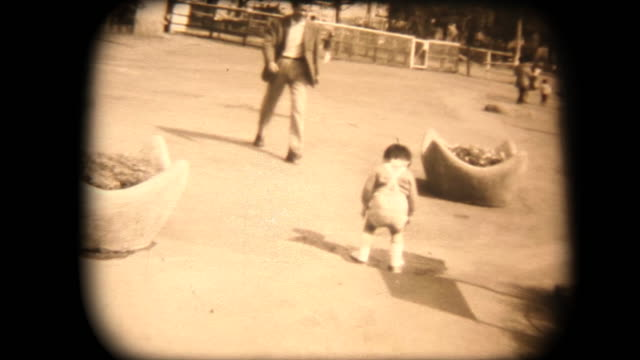 60's 8mm footage - walking in the park with dad - showa period stock videos & royalty-free footage