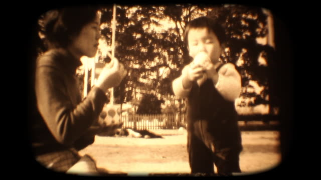 60's 8mm footage - young boy eating ice cream