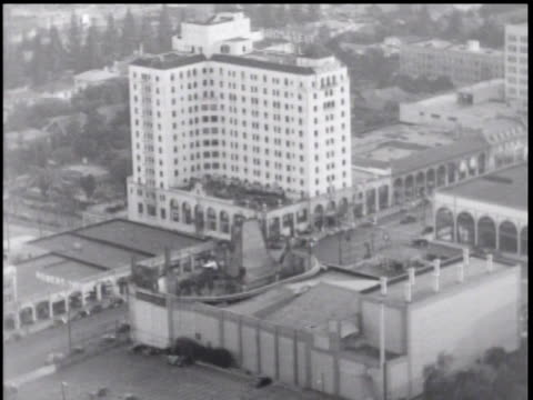 1930's aerial over hollywood, ca - tcl chinese theatre stock videos & royalty-free footage