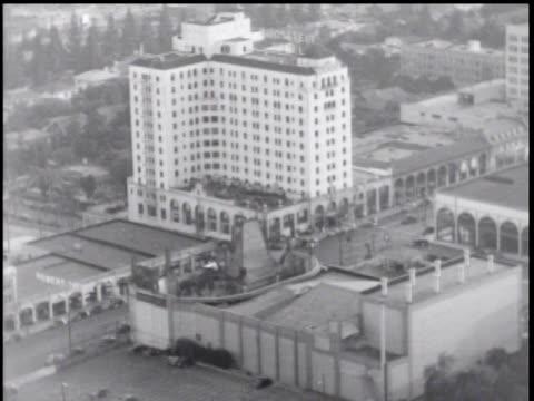 1930's aerial over hollywood, ca - warner bros stock videos & royalty-free footage
