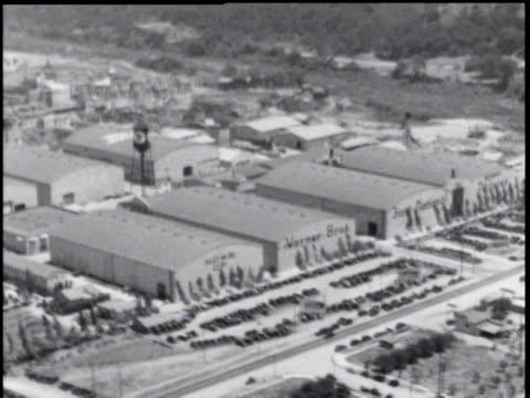 1930's aerial over warner brothers studios, hollywood ca - warner bros stock videos & royalty-free footage