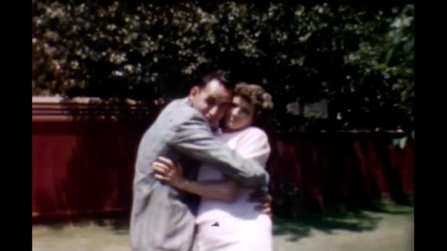 1950's amorous couple - mid length hair stock videos & royalty-free footage