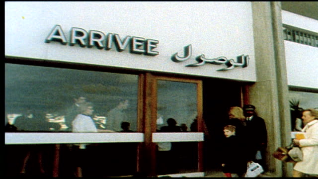 1960's - arriving in morocco - non western script stock videos & royalty-free footage