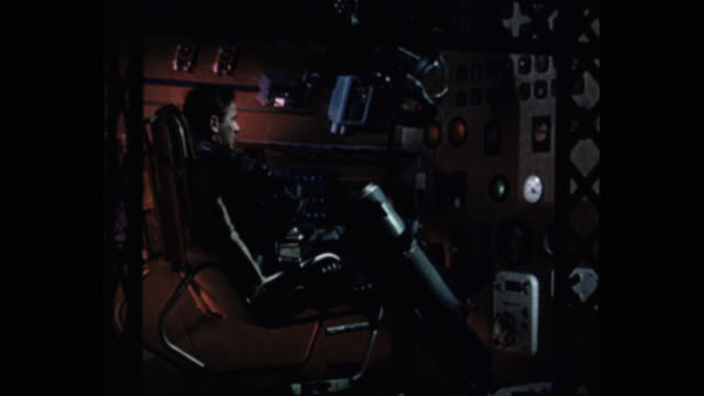 1950's astronaut sitting in spaceship - science fiction film stock videos & royalty-free footage