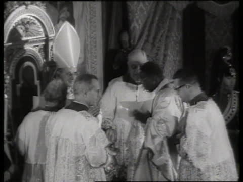 s black clergyman becoming cardinal / rome / st peter's basilica - pope stock videos & royalty-free footage