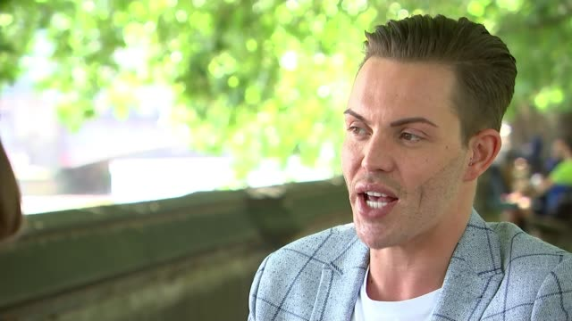 towie's bobby norris campaigns to make online homophobia a crime england london westminster ext bobby norris setup shots with reporter and interview... - homophobia stock videos and b-roll footage