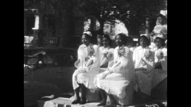 1940's - booker t. washington high school homecoming parade, greenwood, tulsa, ok - african american culture stock videos & royalty-free footage