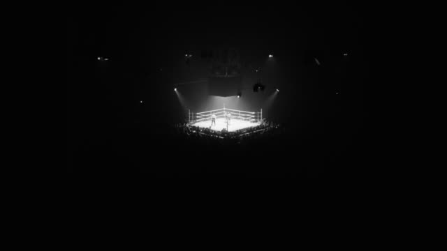 1950's boxers fighting in boxing ring - boxing stock videos & royalty-free footage