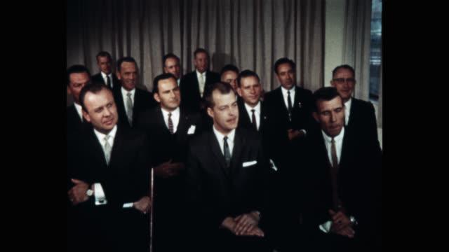 1960's - businessmen sitting in business meeting listening - formal businesswear stock videos & royalty-free footage