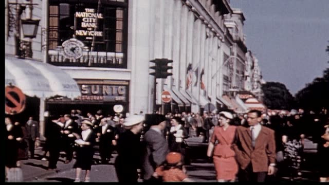 1950's champs-elysees paris - 1950 stock videos & royalty-free footage