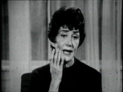 1960's ms cheerios tv commercial with woman talking to announcer about her headaches - 1965 stock videos & royalty-free footage